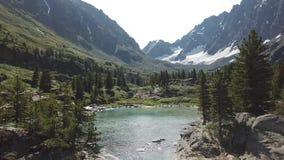 Paesaggio della cascata di Kuiguk Montagne di Altai La Russia archivi video