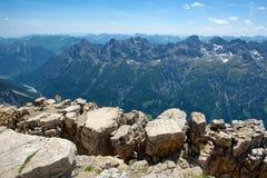Paesaggio della catena montuosa delle alpi di Allgau Immagini Stock Libere da Diritti