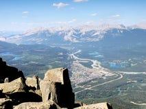 Paesaggio della catena montuosa, Rocky Mountains, Canada fotografia stock libera da diritti