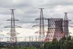 Paesaggio della centrale elettrica Fotografia Stock