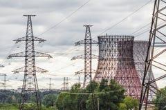 Paesaggio della centrale elettrica Immagine Stock Libera da Diritti