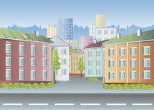 Paesaggio della città Fotografie Stock