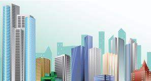 Paesaggio della città illustrazione vettoriale