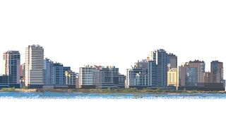 Paesaggio della città all'alba royalty illustrazione gratis