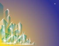Paesaggio della città bello illustrazione di stock