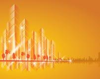 Paesaggio della città bello illustrazione vettoriale