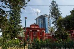 Paesaggio della città Costruzione dei condomini Fotografie Stock Libere da Diritti