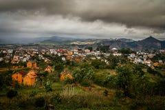 Paesaggio della città del Madagascar Immagine Stock