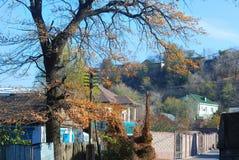 Paesaggio della città di Almaty Fotografie Stock