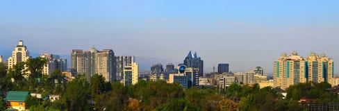 Paesaggio della città di Almaty Immagini Stock Libere da Diritti