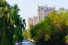 Paesaggio della città di Almaty Immagine Stock Libera da Diritti