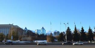 Paesaggio della città di Almaty Fotografie Stock Libere da Diritti