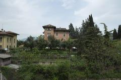 Paesaggio della città di Brescia, Italia fotografie stock libere da diritti