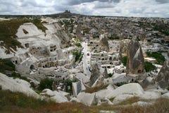 Paesaggio della città di Cappadocia Fotografie Stock Libere da Diritti