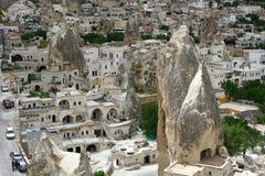 Paesaggio della città di Cappadocia Immagine Stock