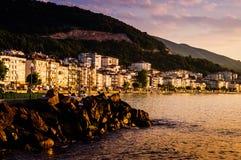 Paesaggio della città di estate Fotografia Stock