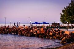 Paesaggio della città di estate Fotografie Stock Libere da Diritti