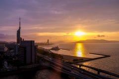 Paesaggio della città di Fukuoka nel Giappone Fotografia Stock