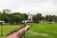 Paesaggio della città di Groznyj Fotografia Stock Libera da Diritti
