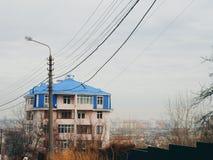 Paesaggio della città di Kyiv Fotografie Stock Libere da Diritti