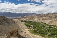 Paesaggio della città di Leh di estate o di stagione del verde, Leh, Ladakkh, Fotografie Stock Libere da Diritti