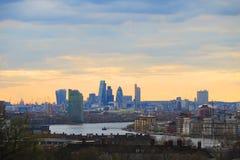 Paesaggio della città di Londra Fotografie Stock