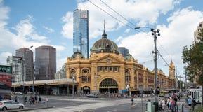 Paesaggio della città di Melbourne Fotografie Stock Libere da Diritti
