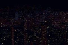 Paesaggio della città di notte Immagini Stock