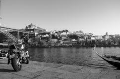 Paesaggio della città di Oporto e del fiume Fotografia Stock Libera da Diritti