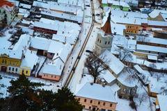 Paesaggio della città di Rasnov fotografie stock libere da diritti