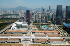 Paesaggio della città di Shenzhen fotografie stock libere da diritti