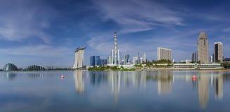 Paesaggio della città di Singapore Fotografie Stock Libere da Diritti