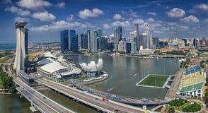 Paesaggio della città di Singapore Fotografie Stock