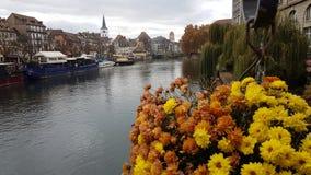 Paesaggio della città di Strasburgo immagini stock