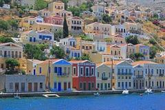 Paesaggio della città di Symi, Grecia Fotografia Stock