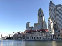 Paesaggio della città di Tientsin, Cina fotografia stock libera da diritti