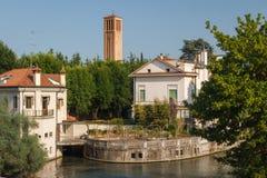 Paesaggio della città di Treviso immagini stock libere da diritti