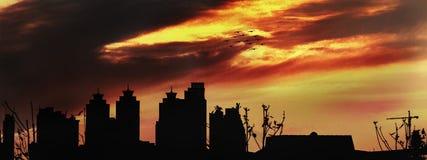 Paesaggio della città di Wuhan immagini stock libere da diritti