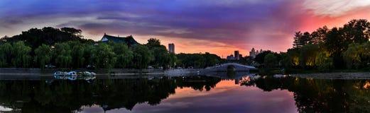 Paesaggio della città di Wuhan fotografie stock