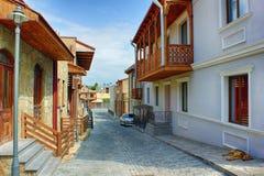 Paesaggio della città La vecchia città georgiana Fotografie Stock Libere da Diritti