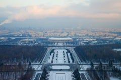 Paesaggio della città Mosca da un'altezza Fotografia Stock Libera da Diritti