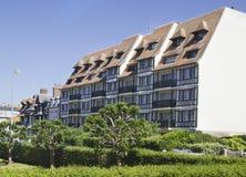Paesaggio della città in Normandia Fotografie Stock