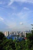 Paesaggio della città sul supporto del Faber Fotografie Stock Libere da Diritti