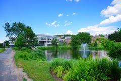 Paesaggio della città universitaria Immagini Stock