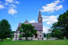 Paesaggio della città universitaria Fotografia Stock Libera da Diritti