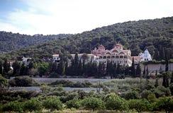 Paesaggio della collina del monastero Immagini Stock Libere da Diritti