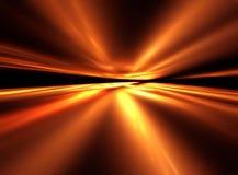 Paesaggio della cometa - illustrazione di frattalo 3D illustrazione di stock