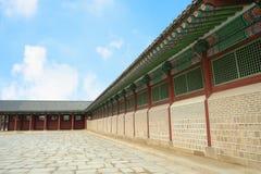Paesaggio della Corea del palazzo di Kyongbok bello Fotografia Stock Libera da Diritti