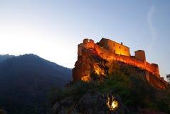Paesaggio della Corsica - villaggio Immagine Stock