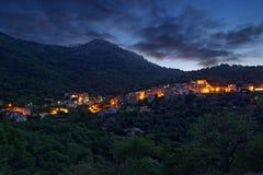 Paesaggio della Corsica - villaggio Fotografia Stock Libera da Diritti